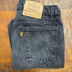 Vintage Orange Tab Black Levi's Jeans